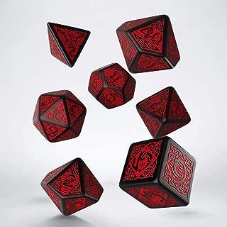 Q WORKSHOP Celtic Black & Red Dice Set