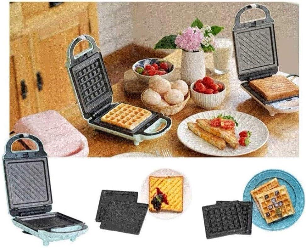 Z-COLOR Sandwich Machine Ontbijt Machine Home Licht Voedsel Machine wafelijzer Multi-Function Verwarming Toast Pressure Broodrooster (Pink) (Color : Gray) Pink