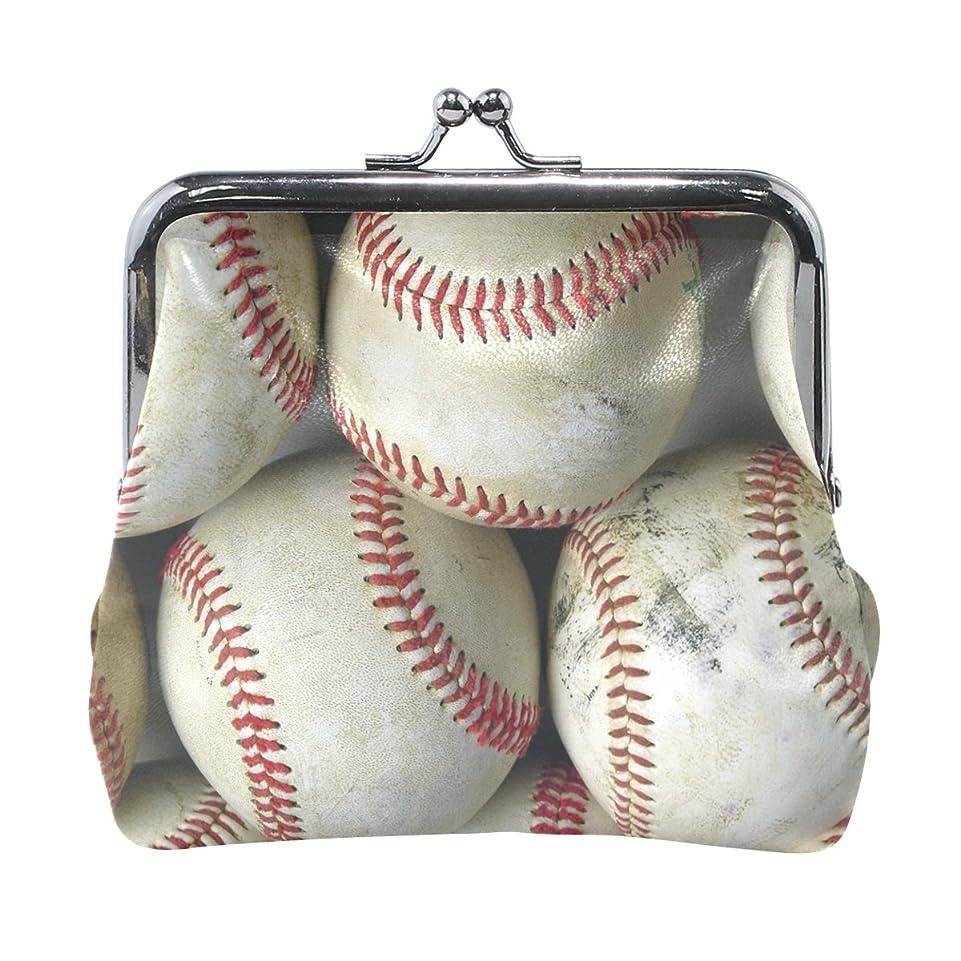 研磨剤ジョットディボンドン想定AOMOKI 財布 小銭入れ ガマ口 コインケース レディース メンズ レザー ボール 野球
