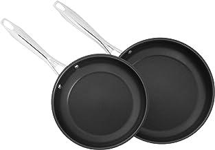 "CUISINART 8922-810NS Professional Series 2-Piece Stainless Steel Nonstick Skillet Set, 8"" & 10"