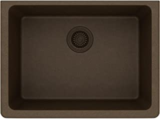 Elkay ELGU2522MC0 Quartz Classic Single Bowl Undermount Sink, Mocha