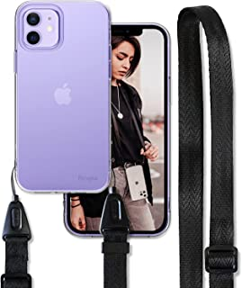 Ringke Air Shoulder Strap Compatible with iPhone 12 Case, Crossbody Neck Lanyard with Clear TPU Silicone Phone Cover for ...