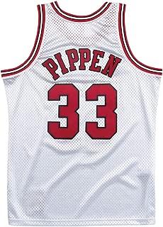 Mitchell and Ness Pippen Platinum Bulls #33 Swingman Jersey (18476-CBUSILV97SPI)