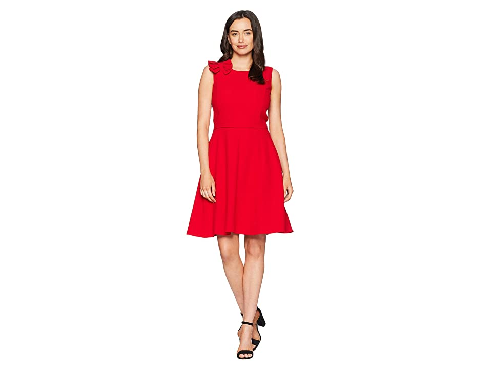 Tahari by ASL Sleeveless Scoop Neck Fit Flare Dress (Lipstick Red) Women