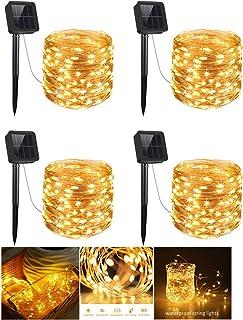 Solar Copper Wire Light Fairy Lamp 200 LED Waterproof Flexible Strip light for Indoor Outdoor Bedroom Patio Garden Party W...