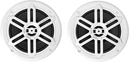 "$69 » SEABASS Premium 6.5"" 2-Way Weatherproof Marine Speakers w/LED Lighting (2-Pack)"
