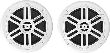 """SEABASS Premium 6.5"""" 2-Way Weatherproof Marine Speakers w/LED Lighting (2-Pack) photo"""