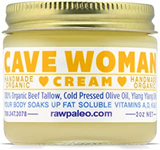 Tallow Lotion –Natural & Organic Skin Care Cream For Women – Excellent Moisturizer, Balm, & Oil For Healthy Skin & Body + 100% Grass-Fed, Non-Toxic, Large 2 Oz Glass Jar