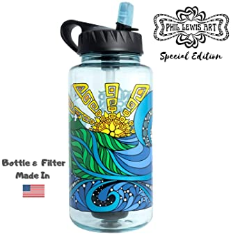 Epic Nalgene OG | Water Filtration Bottle | Wide Mouth 32 oz | American Made Bottle | USA Made Filter Removes 99.99% ...
