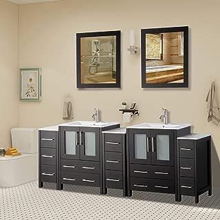 Best double sink bathroom vanities 84 inches Reviews