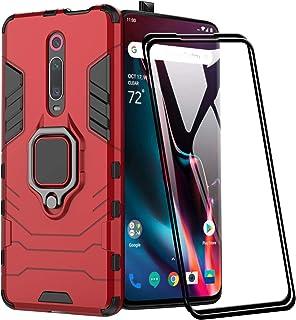 XIFAN Funda para Xiaomi Mi 9T Pro, [Robusto] Anillo Metálico Soporte [Funciona con El Montaje De Coche Magnético] Case Car...