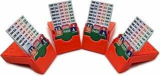 BabyFoxy Set of 4 Bridge Bidding Boxes- Set of Four Bridge Bidding Boxes Premium Bridge kit Bidding Device,Orange