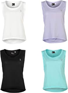Spyder Vista Sleeveless T-Shirt Womens Fitness Training Workout Top Tee Shirt