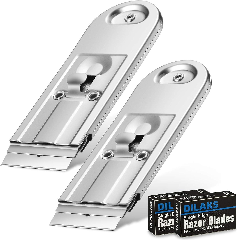 DILAKS 2-Pack Razor Scraper All Overseas New product!! parallel import regular item Metal Sc Blade Heavy Duty