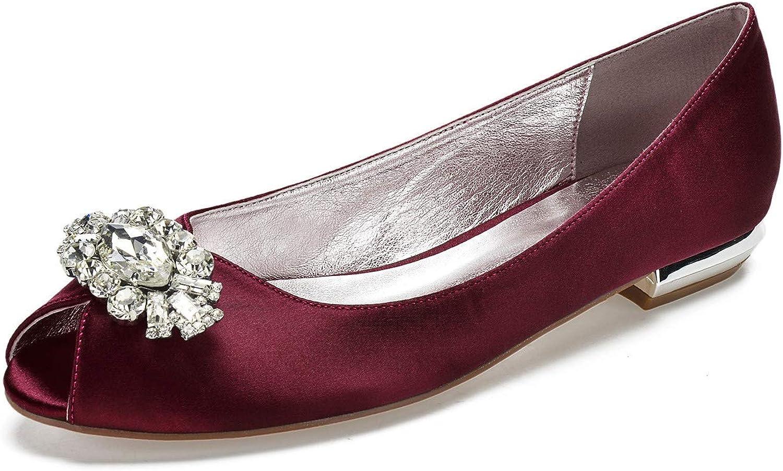 Elobaby Frauen Braut Hochzeit Satin Pumps Damen Slip Auf Prom Sparkly Rhinestone Pumps Schuhe Gre 3 4 5 6 7 8 9