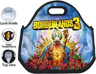 Border-LaNdS 3 Poster Anime MOEYBOR Neoprene Tinfoil Lunch Bags,Kids/Boys/Girls Lunch Box Tote Handbag