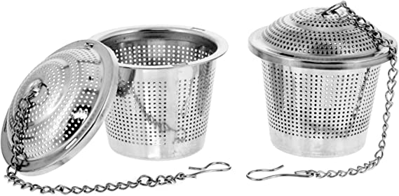 U.S. Kitchen Supply - 2 Premium Stainless Steel Tea Ball Strainer Infusers - 2