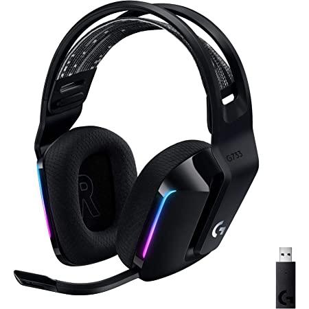 Logicool G ロジクール G ゲーミングヘッドセット G733-BK PS5 PS4 PC Switch Xbox LIGHTSPEED ワイヤレス 7.1ch usb BLUE VO!CE搭載 マイク付き 278g 超軽量 LIGHTSYNC RGB サスペンションバンド 国内正規品