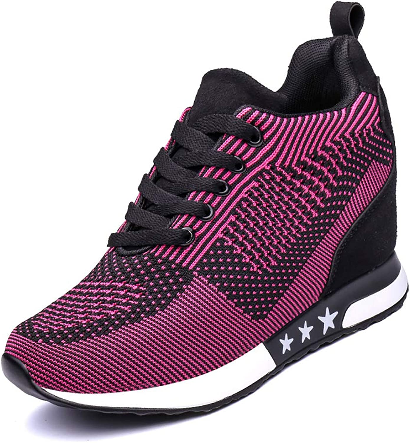 Women Sneakers Sports Running Boot Hiking Height Increasing Platform shoes Loafer Single shoes,Purple,34