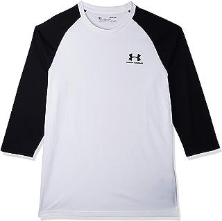 قميص رياضي للرجال باكمام طويلة وشعار مطبوع من اندر ارمور