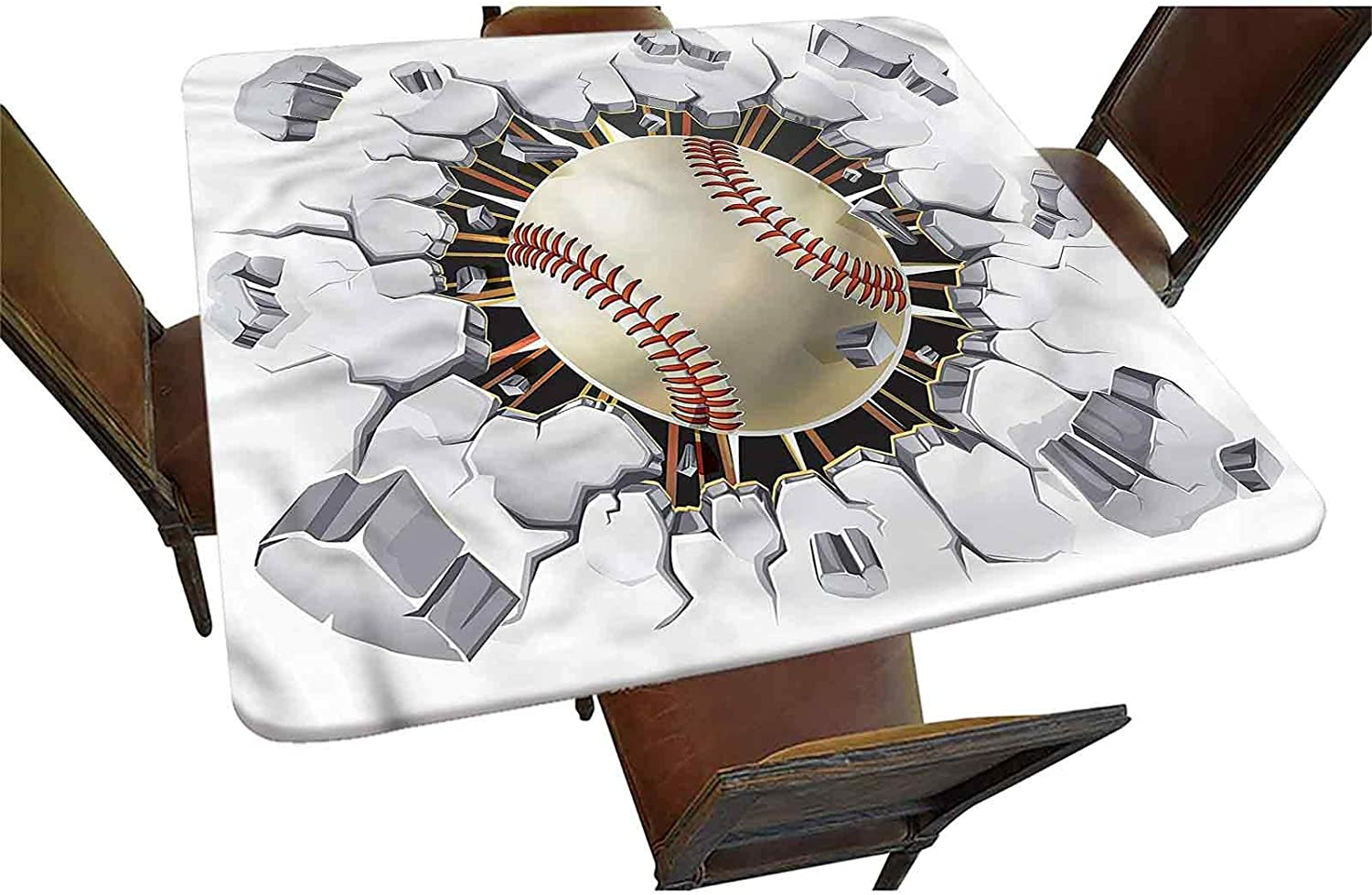 Sale Milwaukee Mall SALE% OFF Sports Decorative Elastic Edged Tablecloth Fitted Square Basebal