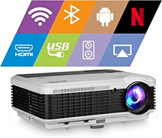 Wireless Bluetooth HDMI Projector 1080P Home Theater 2019 Smart Android 6.0 LCD LED Multimedia Video Projectors 4600 Lumen...