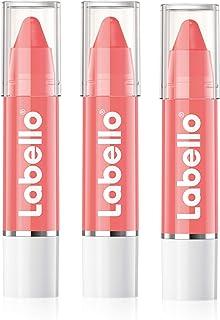Labello, labbra da baciare - Balsamo labbra in una confezione da 3 pezzi (3 da 3 g ciascuno), trattamento per le labbra co...