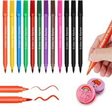 Food Coloring Marker Pens,12Pcs Edible Markers,Double Sided Food Grade Pens with Fine & Thick Tip,Gourmet Writers for DIY ...