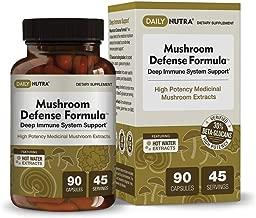 Mushroom Defense Formula - Deep Immune System Support - Medicinal Mushrooms Hot Water Extracted - Reishi, Chaga, Maitake, Shiitake & Turkey Tail