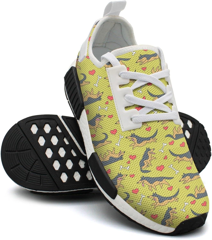 German Shepherds Women's Novelty Lightweight Tennis Sneakers Gym Outdoor Running shoes
