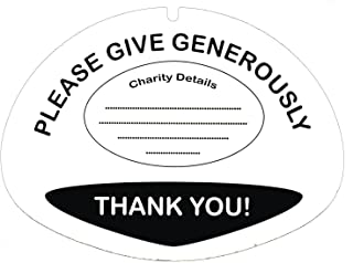 N & P Thermoplastics 10 Labels for 5L Charity Collection Buckets