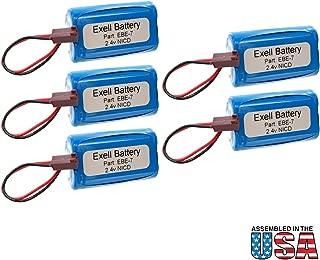 (5-Pack) Emergency/Exit Lighting Battery Fits and Replaces Dual-Lite SEDRWE SEDRWNE SCDRBE SCDRBNE SESRWE CV3REW Kaufel 850.0061 FX2E FC2E 0120822 LXURWE CVD2REW SCSRWE CVD2REBN