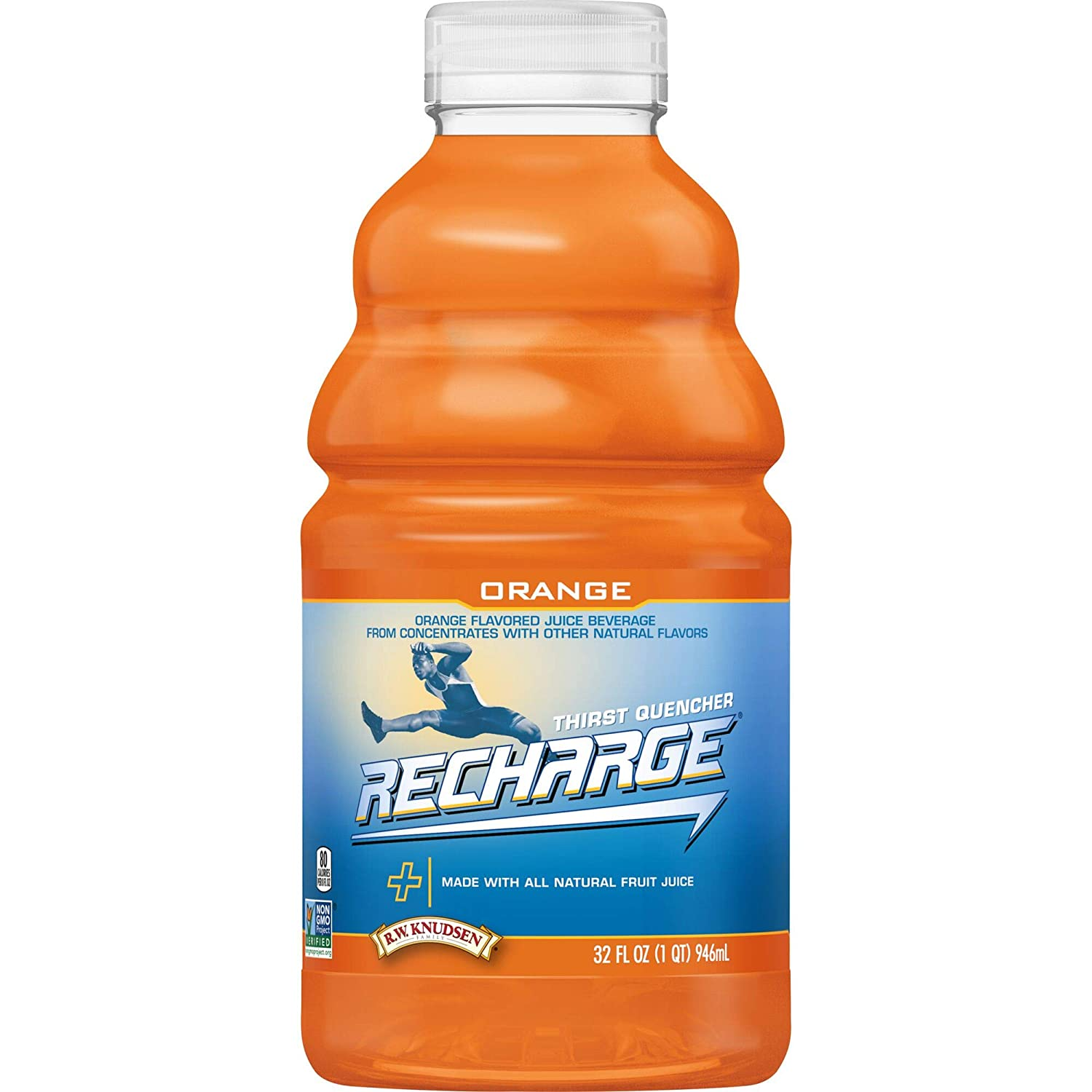 R.W. Knudsen Recharge Orange Flavored Gifts Sports Beverage with Juice Manufacturer regenerated product