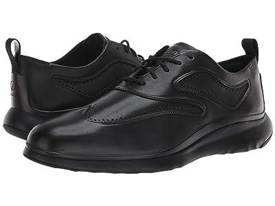 Cole Haan 3.Zerogrand Wingtip Oxford (Black Leather/Black) Men