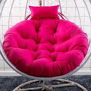 FZswing Columpio Cesta Colgante Cojín del Asiento Cojín de la Silla Colgante para Salas de Estar en el hogar Camas Colgantes Asientos de la Mecedora-Rose Red