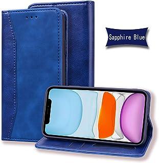 Lodroc LOHF0200047 Hoesje voor iPhone 11 Pro Max van TPU-kunststof, magnetische beschermhoes met kaartenvak, standfunctie,...