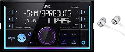 JVC KW-SX83BTS 2-Din Apple and Android Compatibility Digital Media Receiver Featuring Bluetooth, USB, SiriusXM Ready, Pandora, iHeartRadio, Spotify, 13-Band EQ and JVC Remote/Free Alphasonik Earbuds