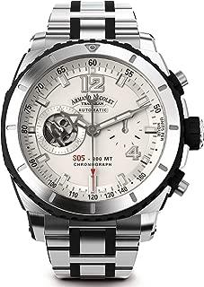 Reloj armand nicolet s05 a714agn-ag-ma4710gn cronógrafo automático Mens Analog Automatic Watch with Stainless Steel Bracelet A714AGN-AG-MA4710GN