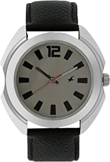Men's Casual Wrist Watch with Analog Function, Quartz Mineral Glass, Water Resistant with Silver Metal Strap/Leather Strap
