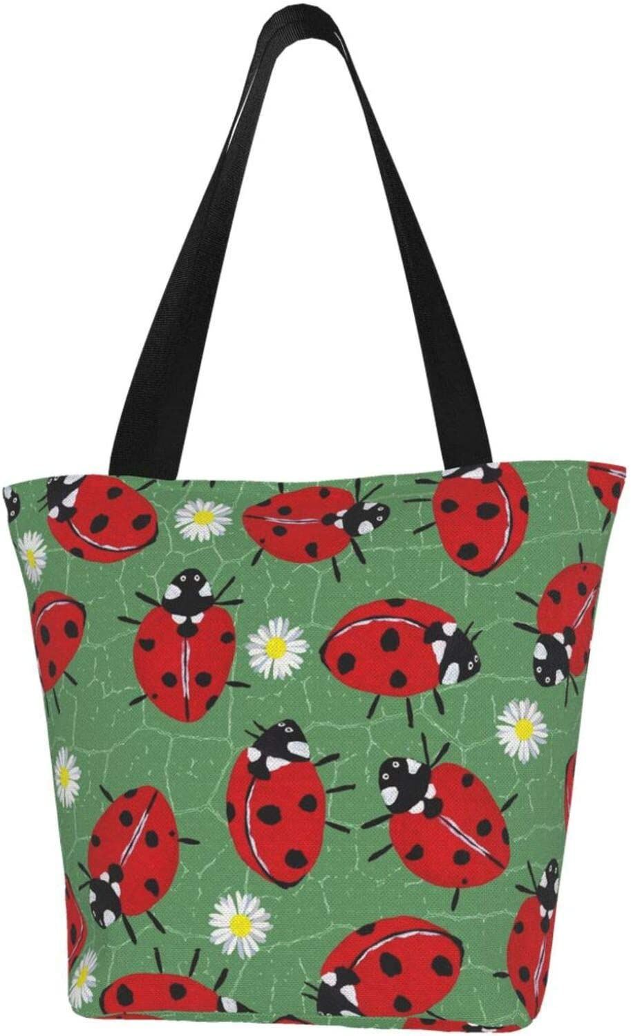 AKLID Ladybug Daisy Luxury goods Max 63% OFF Pattern Extra Large T Water Resistant Canvas