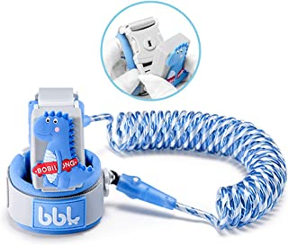 Anti Lost Wrist Link,Toddles Safety Wrist Leash,Anti Lost Rope Walking Harness with Key Lock,Parent-Child (Blue/6.56 ft)