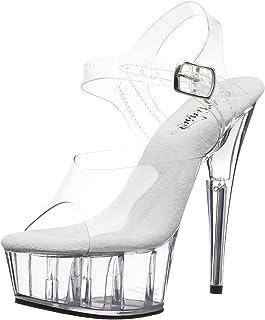 Pleaser Delight-608, Sandales Plateforme Femme, Taille M