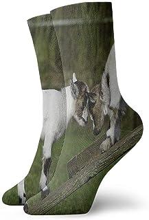 akingstore, Calcetines unisex para niños de cabra clásica, transpirables, para correr al tobillo, senderismo, deportes de fin de semana, calcetines cortos para atletismo, 30 cm