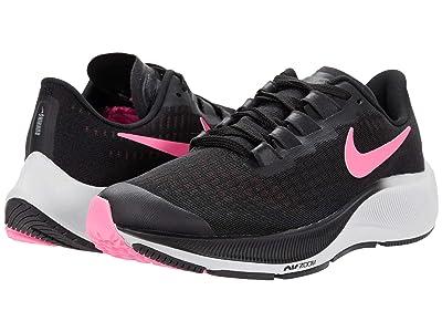 Nike Kids Air Zoom Pegasus 37 (Little Kid/Big Kid) (Black/Pink Glow/Smoke Grey/Photon Dust) Kid