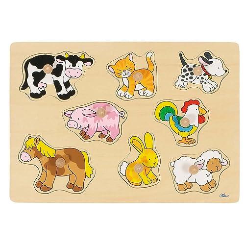 Steckpuzzle Katze Haus.. Spielzeug aus Holz von Goki Lernspiel Puzzle