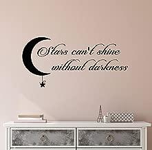 Tiukiu Stars Can't Shine Without Darkness Wall Art Vinyl Wall Decal Sticker Home Decor