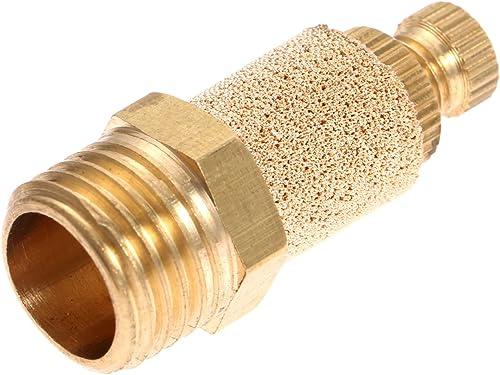 10pcs 1/4 Pneumatic Muffler Silencer Filter Air Flow Speed Controller Sintered Bronze NPT