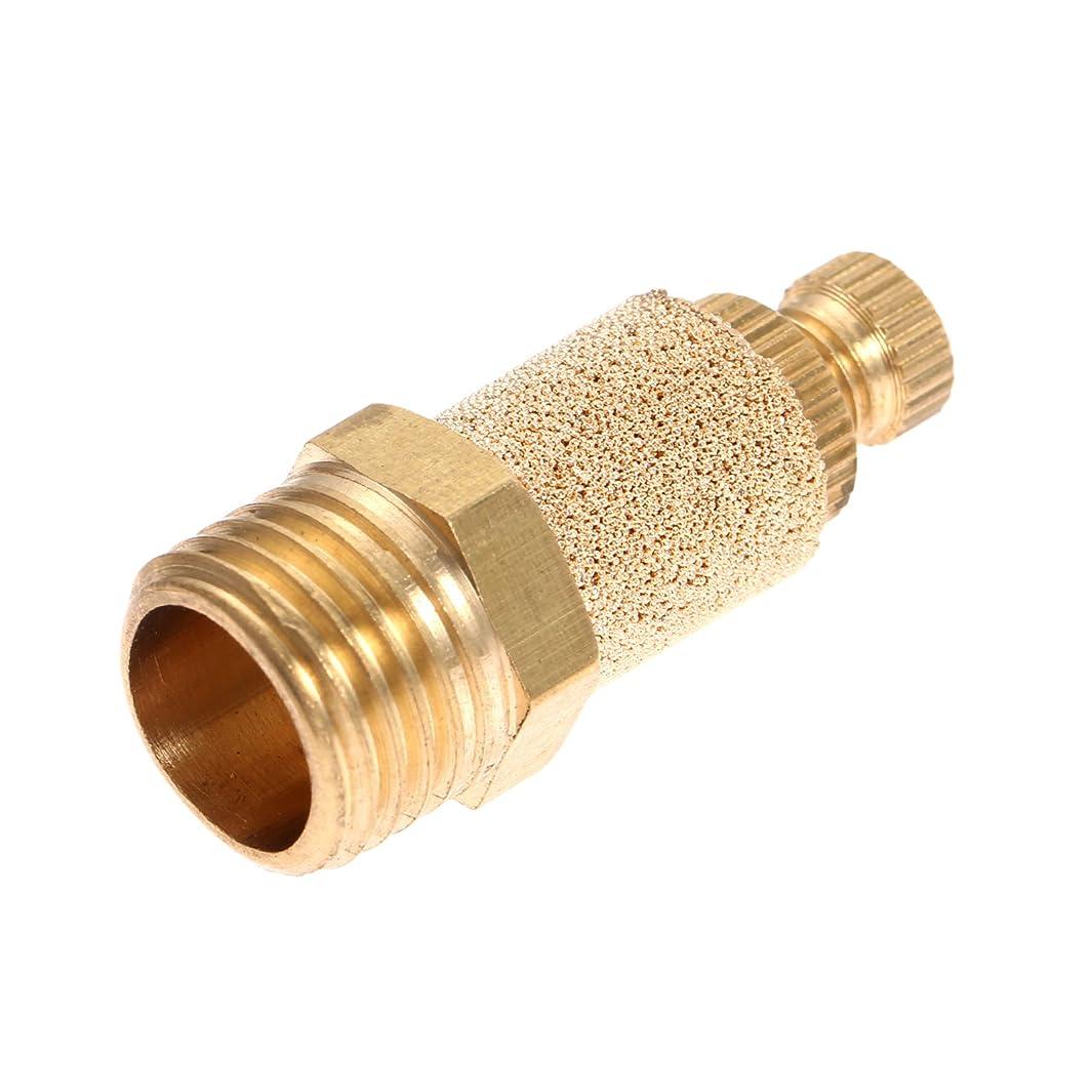 1pc 1/4 Pneumatic Muffler Silencer Filter Air Flow Speed Controller Sintered Bronze NPT