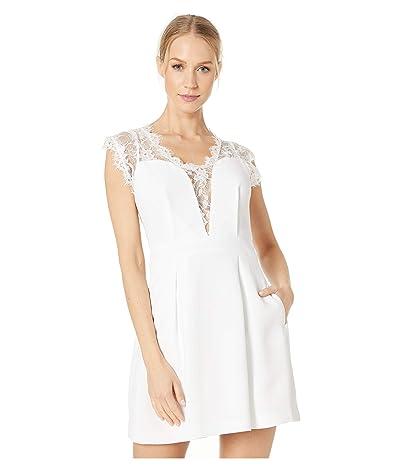 BCBGeneration Sleeveless V-Neck Shirt Cocktail Dress GEF68B66 (White) Women