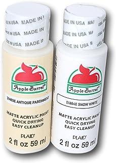 Apple Barrel Acrylic Paint Set - Antique Parchment & Snow White (2 Ounces Each)